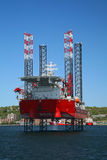 Impianto offshore in mare aperto Immagine Stock Libera da Diritti