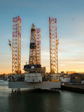 Impianto offshore nel porto di IJmuiden Fotografia Stock Libera da Diritti