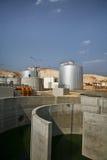 Impianto per il trattamento delle acque Fotografia Stock
