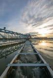Impianto per il trattamento delle acque Fotografie Stock Libere da Diritti