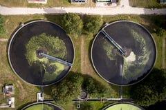 Impianto per il trattamento delle acque Immagine Stock Libera da Diritti