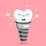 Impianto sano felice del dente royalty illustrazione gratis