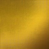 Impianto a scacchiera del fondo di struttura del metallo dell'oro Immagini Stock Libere da Diritti