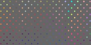 Impianto a scacchiera multicolore spettrale dei punti Fondo grigio Insegna iridescente astratta royalty illustrazione gratis