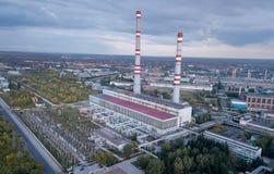 Impianto termico di potere, fotografia stock libera da diritti