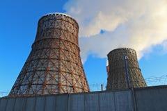 Impianto termoelettrico Fotografia Stock