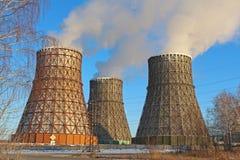 Impianto termoelettrico Fotografia Stock Libera da Diritti