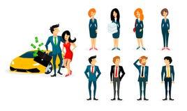 Impiegati di concetto in vestiti da lavoro immagine stock