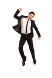 Impiegato di concetto di salto. Fotografia Stock Libera da Diritti