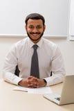 Impiegato sorridente Fotografia Stock Libera da Diritti