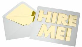Impieghimi che la busta ottiene Job Interview Candidate Immagine Stock