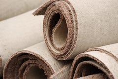 Impilamento dei rotoli del tappeto Fotografia Stock Libera da Diritti