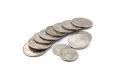 Impilamento delle monete degli Stati Uniti Fotografie Stock Libere da Diritti