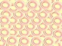 Impilamento di forma del cerchio della fetta della citronella e fondo della sovrapposizione immagine stock libera da diritti