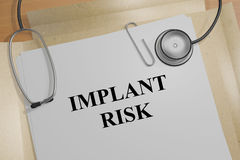 Implant Risk - medical concept Royalty Free Stock Image