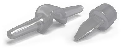 Implantes del finger del silicón Imagen de archivo
