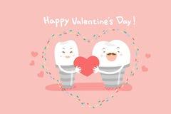 Implants dentaires avec le jour de valentines illustration de vecteur