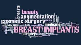 Implants mammaires illustration libre de droits