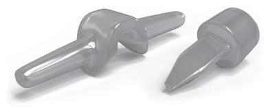 Implants van de siliconevinger Stock Afbeelding