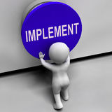 Implement Button Means Do Apply Or Execution Royalty Free Stock Image