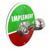 Implement Toggle Switch Execute Plan Strategy Royalty Free Stock Photography