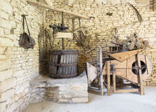 Implementares franceses tradicionais da exploração agrícola Imagem de Stock Royalty Free