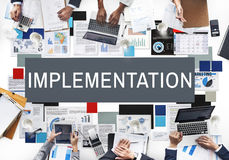 Implementation Achieve Effect Installing Perform Concept Stock Images