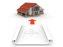 Implementation of the architectural project. Royalty Free Stock Photo