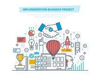 Implementation business project.   Stock Photos