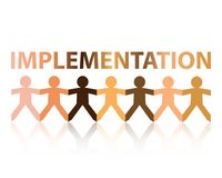 Implementation Paper People Royalty Free Stock Images