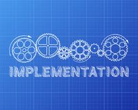 Implementation Blueprint Stock Photo