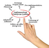Implementing  Enterprise System Stock Images