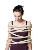 Implicada mujer Imagen de archivo