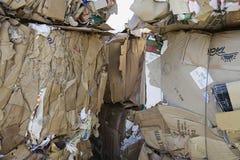 Implicadas cajas de cartón Imágenes de archivo libres de regalías