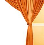 Implicadas cortinas imagen de archivo