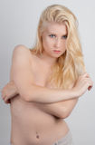 Implied Topless Young Woman Stock Photos