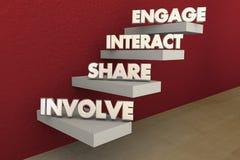 Impliquez la part interactive engagent des étapes illustration libre de droits