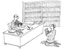 Implorando o juiz ilustração royalty free