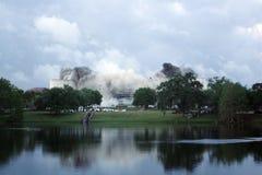 Implosione dell'arena di Orlando Amway (4) Fotografia Stock Libera da Diritti