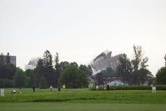Implosione della costruzione Fotografie Stock