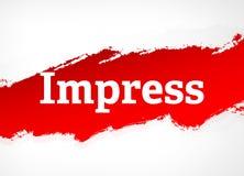 Imponera den röda illustrationen för borsteabstrakt begreppbakgrund royaltyfri illustrationer