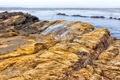 Imponerande föreställning vaggar bildande på punkt Lobos Royaltyfria Bilder