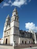 Imponerande mexicansk domkyrka royaltyfria foton