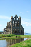Imponerande prakt av Whitby Abbey, North Yorkshire Fotografering för Bildbyråer
