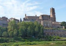 Imponierende Kathedrale von St Cecilia in der alten episkopalen Stadt von Albi im Süden westlich von Frankreich lizenzfreies stockbild