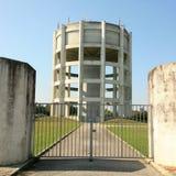 Imponierende schöne Architektur des Wasserturms Stockfotos