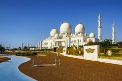 Imponierender Sheikh Zayed Grand Mosque in Abu Dhabi 7 lizenzfreie stockbilder
