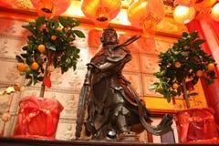 Imponująco statua robić ciężki metal okazałość ten antyczny wojownik, sacredness i rozszerzamy w fotografia royalty free
