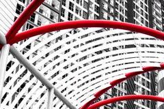 Imponująco abstrakt z stalową kopułą fotografia stock
