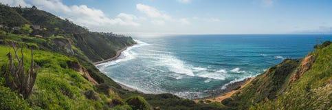 Imponująco blef zatoczki panorama fotografia stock